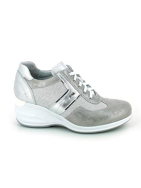 Nero Giardini - Zapatillas para Mujer Plateado Plateado: Amazon.es: Zapatos y complementos