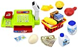 Toyshine Supermarket Cash Register Play Set, with Barcode Scanner, Battery Operated