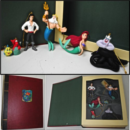 DISNEY Storybook Christmas Ornament Collection: THE LITTLE MERMAID, 6pcs -