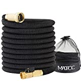 Garden Hose MATCC 50 Feet Expandable Hose 3/4'' Solid Brass Fittings with Shut