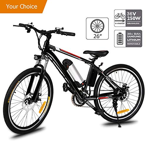 Best Price Aceshin 26'' Electric Mountain Bike with Removable Large Capacity Lithium-Ion Battery (36...
