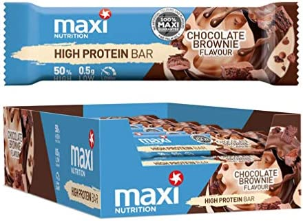 [Gesponsert]MaxiNutrition High Protein Bar  - Chocolate Brownie, 21 x 40g (840g)