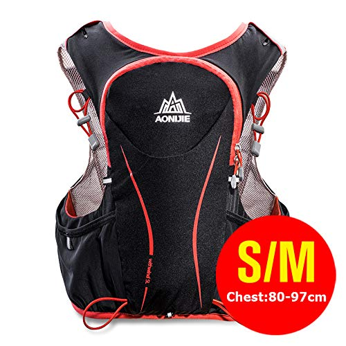 POJNGSN Hydration Pack Backpack Rucksack Bag Vest Harness Water Bladder Hiking Camping Running Race Sports 5L SM by POJNGSN (Image #1)