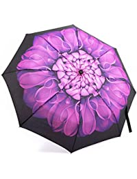 Umbrella,Oak Leaf Windproof Automatic Compact Rain Travel Umbrella,Lightweight,Auto Open/Close