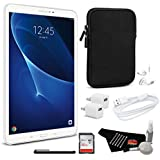 Samsung Galaxy Tab A T580 10.1 Inch, 16GB Tablet Wi-Fi Only (White, SM-T580NZWAXAR) Bundle with 1 Year Extended Warranty + 32GB micro SD Memory Card