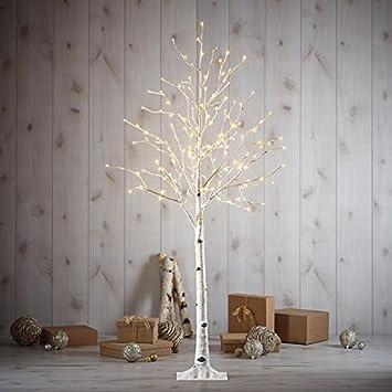 Amazon.com: 5.5 ft LED Birch Christmas Tree: Home & Kitchen