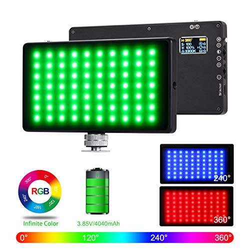 RGB Pocket Light LituFoto R18 Camera Light Mini LED Video Light Panel Fill Light Full Color Output Video Soft Light 180P Lamp Beads with Screen for YouTube, Vlog, DSLR, Outdoor, Smartphone Shooting