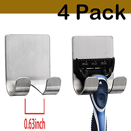CASAFE+ R18-0043 Razor Holder Appliances Plug Holder Hook With Self Adhesive (4 Pack) (Holder Plug)