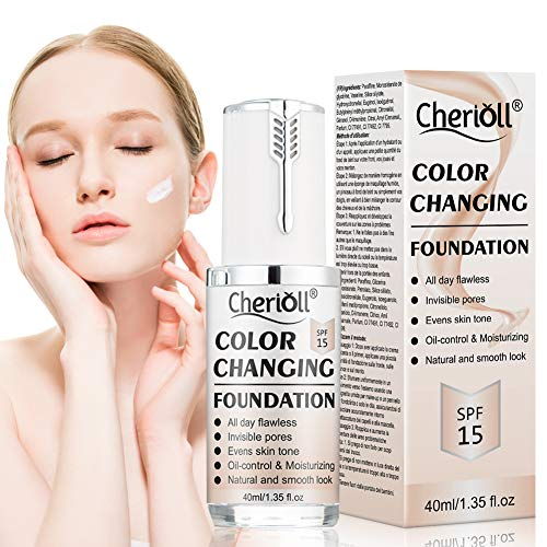 Flawless Liquid Foundation Cream, Liquid Foundation, Colour Changing Foundation, BB Cream, Long Lasting, Invisible Pores, Base Nude Face Moisturizing Liquid Cover Concealer,Universal for ALL Skin Type (The Best Liquid Foundation)