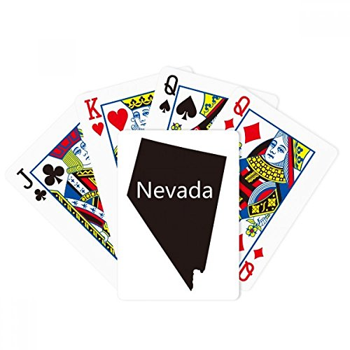 (DIYthinker Nevada The United States of America Map Poker Playing Cards Tabletop Game Gift)