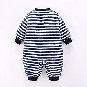 Amuse-MIUMIU Kids Romper Jumpsuit Newborn Infant Long Sleeve Cartoon Striped Fleece Romper Baby Boy Girls Jumpsuit…