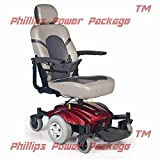 Golden Technologies - Compass Sport - Mid-Wheel Drive Power Chair - Red - PHILLIPS POWER PACKAGE TM - TO $500 VALUE