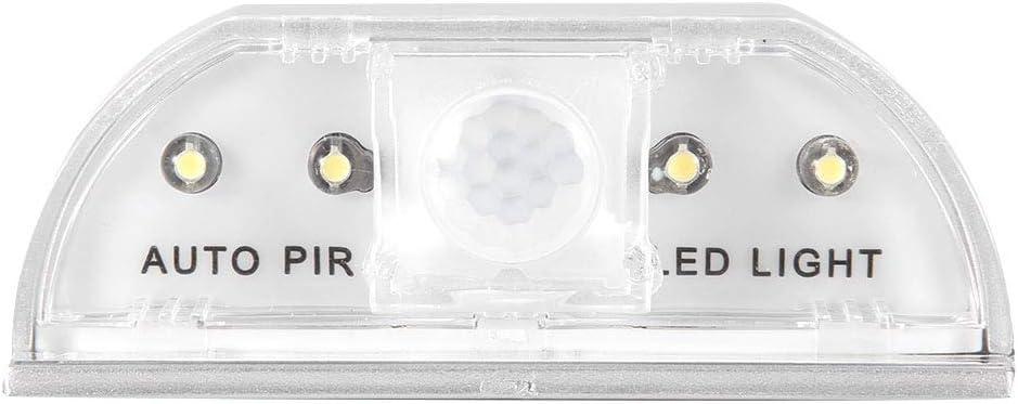 Lámpara de cerradura de la puerta del ojo de la cerradura con sensor de movimiento por infrarrojos, sensor de luz 4LED Sensor de movimiento automático Armario Gabinete de cocina Mini reflector