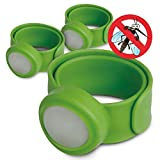 OUTXPRO 3 Bug Off Insect Repellent Slap Bracelets - DEET FREE - No Insecticide - Best Insect Repelling Product for Kids - Looks like Childrens Pretend Play Bracelet While Keeping Away Mosquitos, Black Flies, Sand Flies, Fleas,Ticks and Others (Color Green)