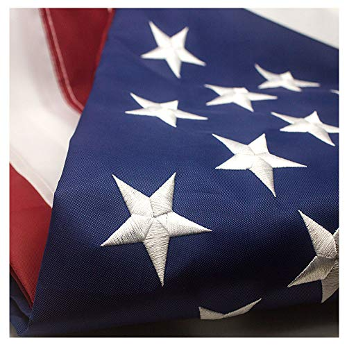 VSVO American Flag 3x5 ft - Durable 300D Nylon Outdoor Flags- UV Protected, Embroidered Stars, Sewn Stripes, Brass Grommets Outside US Flags.