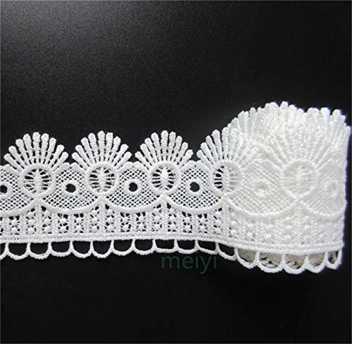 2 Meters White Width 8cm Cotton Crochet Lace Trim Ribbon Appliques Sewing Craft