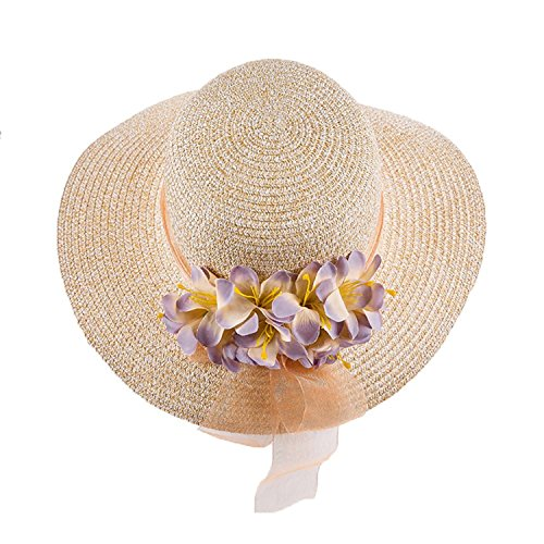 Promini Wide Large Brim Sun Hats Beach Floppy Caps Hat for Women