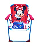 takestop–Disney Minnie Mouse Folding Chair, Fuchsia and Blue, Children's, ideal for camping, Bedroom, Beach or Garden, Metal and Plastic, With armrests, Portable, Lightweight, 53x 38x 39cm