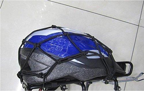 Romote 6 Crochets Moto Maintenez Net Bagages Mesh r/éservoir de Carburant Casque Mesh Net Mesh Noir Bungee Mesh