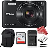 Nikon Coolpix S7000 16 MP ALL YOU NEED Digital Camera BUNDLE - Nikon Coolpix S7000 + 16GB SD Card + Compact Camera Case + Replacement Battery & Charger + DigitalAndMore Microfiber Lens Cleaning Cloth