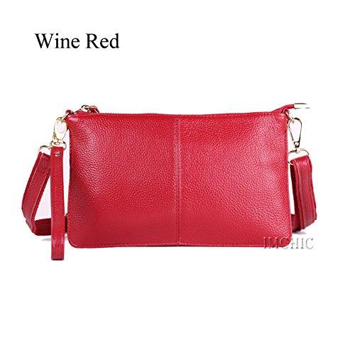 Shoulder Bag Handbags Clutch Genuine Evening AASSDDFF Party Casual Women'S red Crossbody wine Women Designer Bags Small Female Envelope tCxtnqRZw
