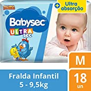 Fralda Babysec Galinha Pintadinha Ultrasec M 18 Unids, Babysec, M