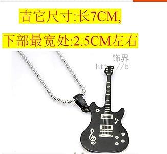 Relovsk Collar De Acero Titanium, Música Clásica, Guitarra, Collar ...