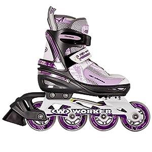 Damen Inline Skates PERLETA verstellbar Gr. 35-38 ABEC 5, Aluminium, lila...