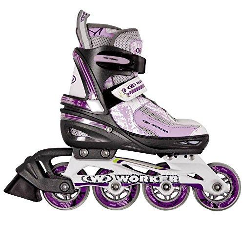 Damen Inline Skates PERLETA verstellbar Gr. 39-42 ABEC 5, Aluminium, lila Inliner Inlineskates (39-42 verstellbar)