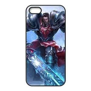 iPhone 5 5s Cell Phone Case Black League of Legends Dreadknight Garen VB6978395