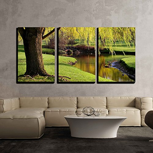 wall26 - 3 Piece Canvas Wall Art - Scenic Landscape - Modern Home Decor Stretched and Framed Ready to Hang - 16