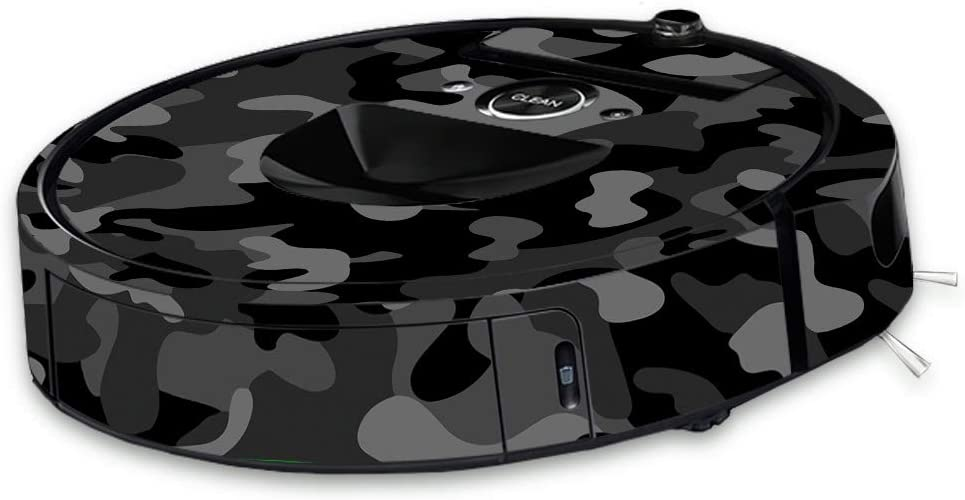 MightySkins Skin Compatible With iRobot Roomba i7 Robot Vacuum - Black Camo | Protective, Durable, and Unique Vinyl Decal wrap cover | Easy To Apply, Remove, and Change Styles | Made in the USA