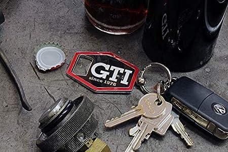 Black BRISA VW Collection Volkswagen GTI Key Ring//Bottle Opener