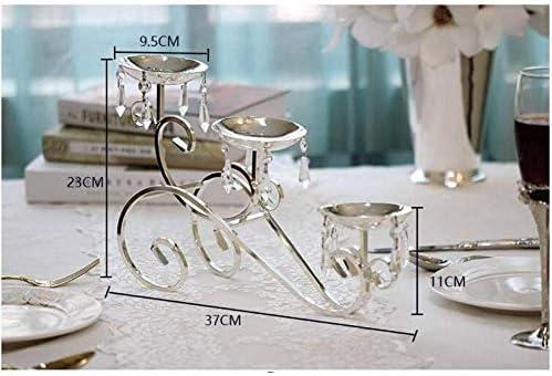 クリスマスキャンドルホルダークリスタル燭台ランタン結婚式キャンドルスティック装飾金属キャンドルホルダー用ホームテーブルデコラ、5アーム