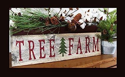 Amazon Com Olga212patrick Tree Farm Sign With Christmas Tree