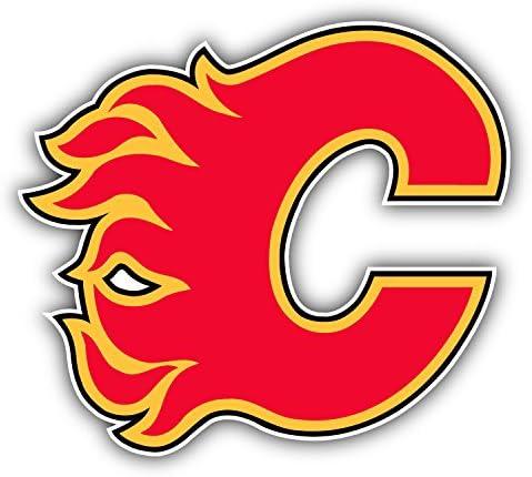 Calgary Logo Car Bumper Sticker Decal 5 X 4 hotprint Flames Hockey