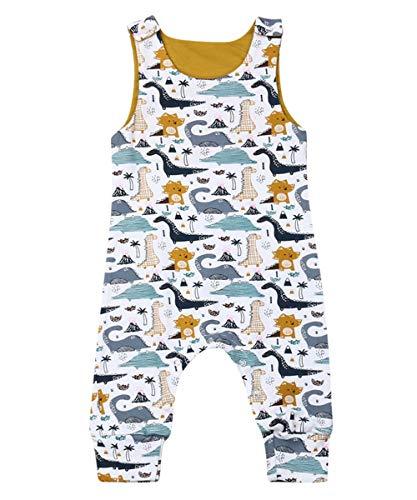 - Fiomva Infant Newborn Baby Boy Girl Clothes Cotton Bodysuit Romper Jumpsuit Sunsuit Outfits Clothing (18-24 Months, Dinosaur Romper Pants Overalls)
