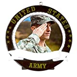 Army Picture Frame Personalized Christmas Tree Ornament by Polar X