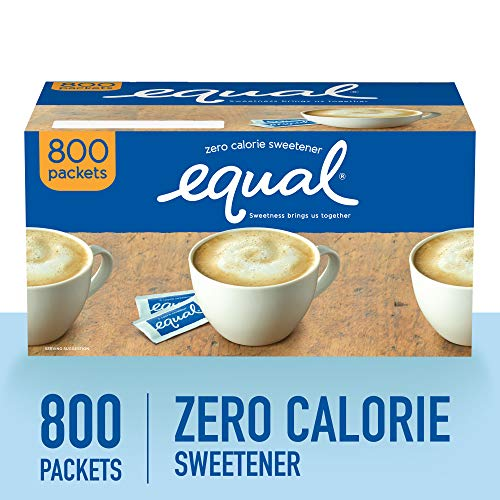 (EQUAL 0 Calorie Sweetener, Sugar Substitute, Zero Calorie Sugar Alternative Sweetener Packets, Sugar Alternative, 800 Count)