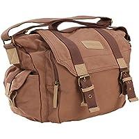 Voilamart Gadget Bag For DSLR Camera - Brown (15x7x9in) Waterproof Shockproof Camera Shoulder Messenger Bag