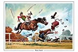 Photo Finish Horse Racing greeting card with envelope by Norman Thelwell. Blank on the inside for any message