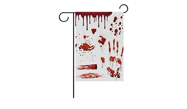 Amazon com : U LIFE Spooky Happy Halloween Blood Print