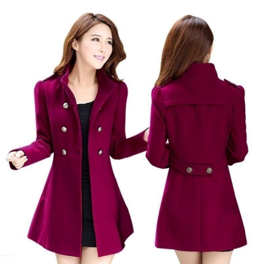 0fca918c8752 Amazon.com  Women Ladies Warm Korean Long Coat Winter Jacket  Clothing