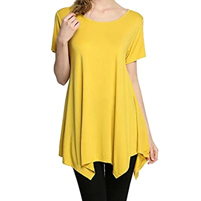 393f912f04a delicate Pengy Women's Summer Fashion Short Sleeve Casual Loose Fit Comfy  Flattering Swing Tunic Tops T