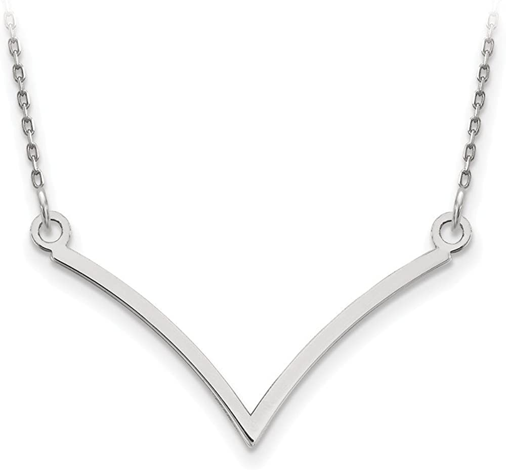 Dainty Designs 14k White Gold V Necklace One size