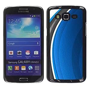 LECELL -- Funda protectora / Cubierta / Piel For Samsung Galaxy Grand 2 SM-G7102 SM-G7105 -- Abstract Blue --