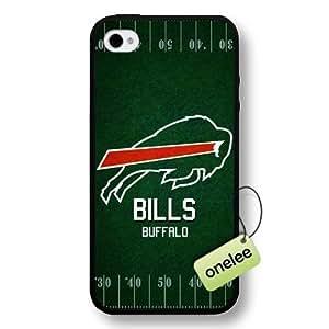 NFL Buffalo Bills Team Logo iPhone 4/4S Black Hard Plastic Case Cover - Black
