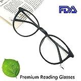 Reading Glasses 0.25 Black, Round Glasses, Eyeglasses Frames for Women, Light Weight Glasses