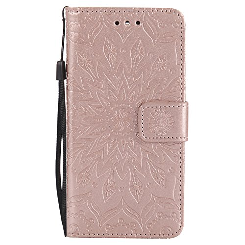 LG K8 (2017) Case, LG Escape 3 Case, AS-Zeke Case Stand Wallet Purse Credit Card ID Holders Magnetic Closure Design Ultra Slim Fit Flip Folio Cover for LG K8 / (4120 Stand)
