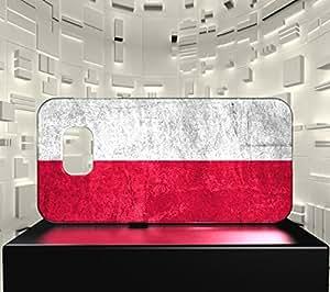 Funda Carcasa para Galaxy S6 Edge Bandera POLONIA 01